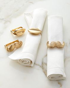 Mr. & Mrs. Muse Napkin Rings, Set of Four by Jonathan Adler at Horchow.