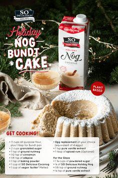 Holiday Cakes, Holiday Desserts, Holiday Baking, Holiday Treats, Christmas Treats, Just Desserts, Holiday Recipes, Vegan Dessert Recipes, Baking Recipes