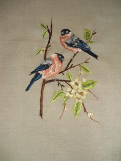 Embroidered Chafinches