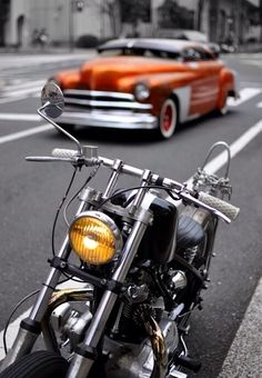 ☛All Things Color Splash☚ Rockers, Rockabilly, Color Splash, Color Pop, Rock And Roll, Bobber Chopper, Motorcycle Design, Hot Rides, My Ride