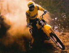 1980 Yamaha YZ465 Motocross Bikes, Vintage Motocross, Off Road Bikes, Dirt Racing, Dirtbikes, Vintage Bikes, Sidecar, Bullshit, Dark Skin