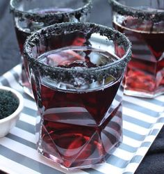 These black licorice cocktails are perfect for Halloween