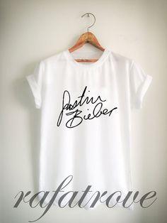Justin Bieber Shirt Justin Bieber Signature T Shirt by RafaTrove