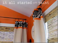 Curtain tutorial.  Sisters and Sewing...from Linda at It All Started With Paint - At The Picket Fence