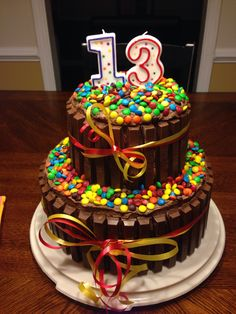 Brilliant Photo of 13 Birthday Cake . 13 Birthday Cake Decided To Try This For My Sons 13 Th Bday What Fun This Was To 13th Birthday Cake For Girls, 13th Birthday Parties, Happy Birthday Cakes, Birthday Cupcakes, 13 Birthday, Birthday Ideas, Birthday Cakes Girls Kids, Healthy Birthday, Flower Birthday
