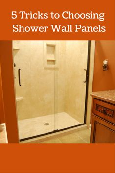 DIY shower wall panels can have a dramatic look. This project uses ...