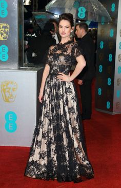 In Dolce & Gabbana at the British Academy Film Awards in London.
