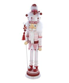Take a look at this Pink Peppermint Nutcracker by Kurt Adler on #zulily today!