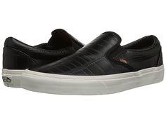 e8f41c0665 Vans classic slip on emboss check port royale leather