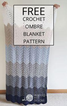 Melissa's Crochet Designs: Ombre Ripple Crochet Blanket Pattern