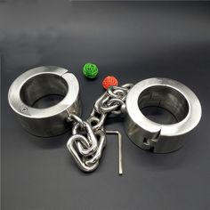 (308.66$)  Watch now - http://ai5hl.worlditems.win/all/product.php?id=32594098144 -  Super Heavy 6kg legcuffs Stainless Steel Fetter Anklet Shackles Fetish Restraint Bondage ankle chains sex toys BDSM Products