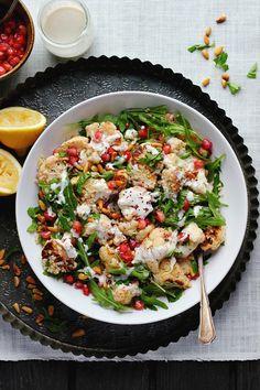 Roasted Cauliflower and Quinoa Salad with Sumac, Lemon + Tahini | happy hearted kitchen (vegan + gluten free)