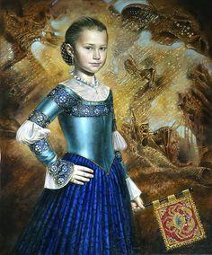 Michael Cheval - Sabina, óleo sobre lienzo