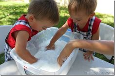 clean mud- water, dish soap and toilet paper- can make in small container so not so messy