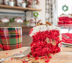 Southern red velvet cake with cream cheese icing recipe || Worthing Court