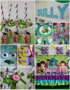 Monsters Inc Party with SO MANY IDEAS via Kara's Party Ideas | Kara'sPartyIdeas.com #Disney #MonstersInc #PartyIdeas #Supplies