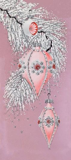 Pink jeweled ornament.