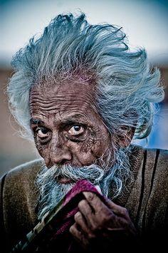 ♂ Pakistan Man Portrait. Pelo azul, bandera que se luce por una vida con éxtasis.