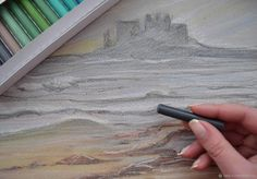 """Пастель """"Берег снов и туманов"""", картина, графика, недорого – купить в интернет-магазине на Ярмарке Мастеров с доставкой - E2J1ZRU"""