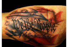 Patriotic Chest or Bicep Tattoo