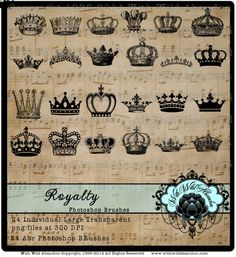 Crown Clipart Monarch Queen Royalty Clipart by withwildabandon Overlays, Crown Images, How To Make Signs, Soul Art, Photoshop Brushes, Collage Sheet, Card Wallet, Ana White, Candlesticks