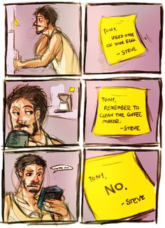 I had no concept of shipping Tony Stark/Steve Rogers until I saw this blog. Now I can't get enough! #avengers #tonystark #steverogers