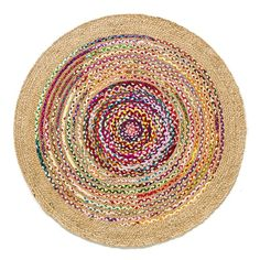 Jaco Jute and Cotton Rug, Diameter AM.PM The Jaco rug. Hand-woven cotton and jute.Providing natural thermal and sound insulation, a rug changes the look of a space. Jaco, Jute Rug, Woven Rug, Inexpensive Rugs, Circular Rugs, Home Furnishing Accessories, Shaggy Rug, Cool Rugs, Carpet Colors
