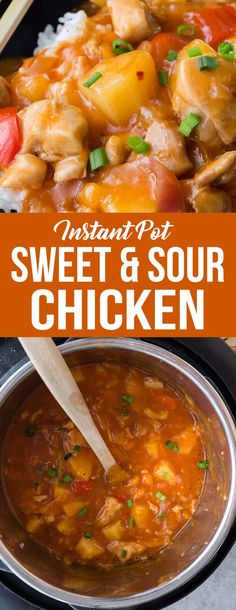 Instant Pot Sweet and Sour Chicken is better than what you can get in a restaurant! It's so good!  #sweetandsourchicken #chicken #chinesefood #instantpot #instantpotrecipe