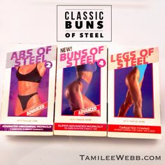 I remember popping in this vhs tape and getting my sweat on! Oldie but a goodie!! Classic Buns of Steel now on DVD & download.
