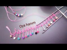 Boncuklu firkete oyası yapılışı - YouTube - Hand Embroidery Patterns Flowers, Hand Embroidery Videos, Beginner Crochet Projects, Crochet For Beginners, Diy Crafts Knitting, Hairpin Lace Crochet, Broomstick Lace, Tatting Lace, Crochet Stitches