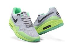 super popular a339b 85aa5 Nike Air Max 1 Homme Hyperfuse Vert Jaune Noir Chaussures France Outlet