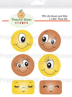 Peachy Keen Sweet and Silly Faces - Stamps for Die Cuts and Digital SVG Cut Files Peachy Keen Stamps, Face Template, Painted Plant Pots, Clowning Around, Silly Faces, Tole Painting, Doll Face, Paper Piecing, Flower Pots