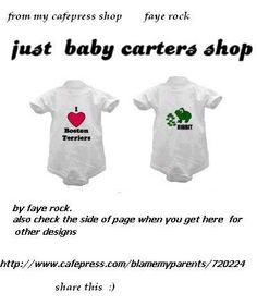 many many baby carters for twins just buy 2 :)   http://www.cafepress.com/blamemyparents/720224