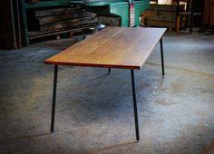 DARK WOOD TABLE Large Old Oak Dining Table por HardmanDesignBuild