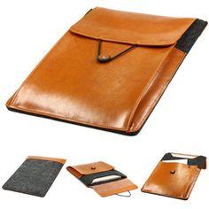 Original Urcover® Handgefertige Fashion Designer Mac-book Air 11 Zoll Tasche Hülle Tasche Sleeve dpark Style Notebooktasche Laptophülle 11 Zoll Dunkel Grau + Braun 29,90€