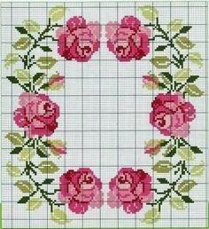 This Pin was discovered by Afr Cross Stitch Pillow, Cross Stitch Borders, Cross Stitch Rose, Cross Stitch Flowers, Cross Stitch Charts, Cross Stitch Designs, Cross Stitching, Cross Stitch Patterns, Embroidery Patterns Free