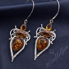 Wire Wrapped Earrings, Drop Earrings, Wire Jewelry, Jewellery, Hippie Chic, Wire Wrapping, Amber, Jewelry Design, Gemstones