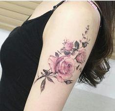 Bildergebnis für vintage blumen tattoo ohne outlines
