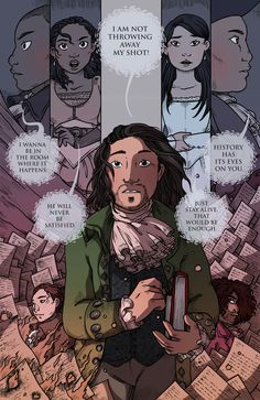 I've seen this before, but I just noticed how Laurens is on his left, an Jefferson is on his right. In Non-Stop, Hamilton has just found out that Laurens is dead. In the next song, Hamilton meets Jefferson. The whole song is Hamilton leaving behind Laurens, his best friend and possibly lover, and rushing towards Jefferson, his enemy.
