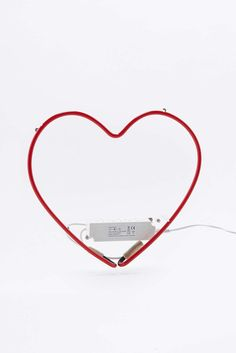 Red Neon Heart Light