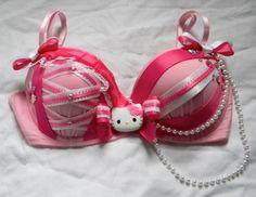 super kawaii hello kitty bra