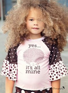 That is a lot of hair! And love the shirt.