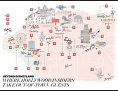 Beyond Disneyland: Where Hollywood VIPs (Really) Take Their Out-of-Town Guests (Map) - Hollywood Reporter - The Hollywood Reporter