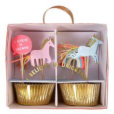Cupcake Set Einhorn von Meri Meri   Minidrops