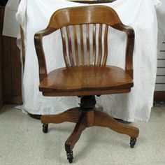 Old Solid Wood Swivel Desk Chair | Desk Chairs 26 Secretary Desks 29 Oak  Swivel Antique