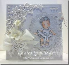 Almost White on White, Julie Price Stamps, Paper, Ribbons n Things
