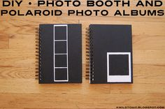 DIY • Photo Booth and Polaroid Photo Albums Polaroid Photo Album, Polaroid Cameras, Polaroid Pictures, Polaroid Ideas, Polaroids, Diy Photo Booth, Photo Booth Backdrop, Impossible Project, Fuji Instax