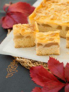 Ciasto z jabłkami i masą budyniową #recipe #panitereska