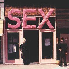 Jordan outside SEX, 430 Kings Road