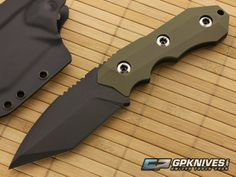 Nocturnal Knives GLG-20 Tanto Green G10